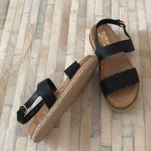 Salvatore Ferragamo black sandals 7 new